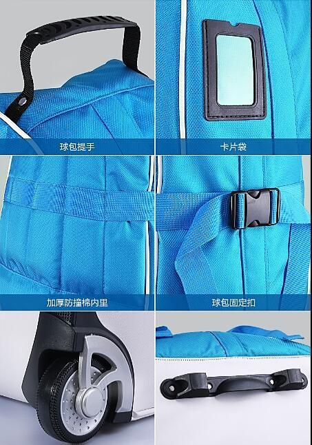 Durable Nylon Golf Travel Bag Multicolor