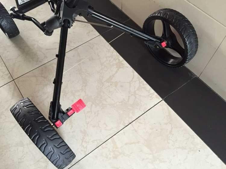 One-Click Folding 4 Wheel Golf Push Cart Lightweig