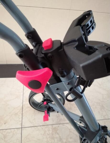 Qwik Fold 3 Wheel Golf Push Pull Cart Trolley